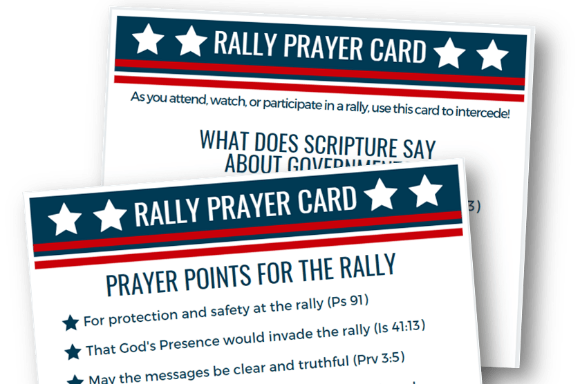 Rally Prayer Card