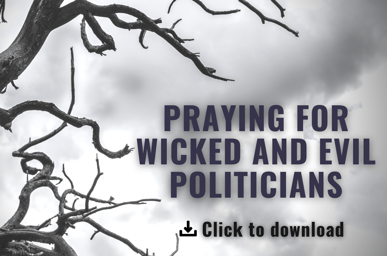 Praying for Wicked and Evil Politicians Prayer Guide